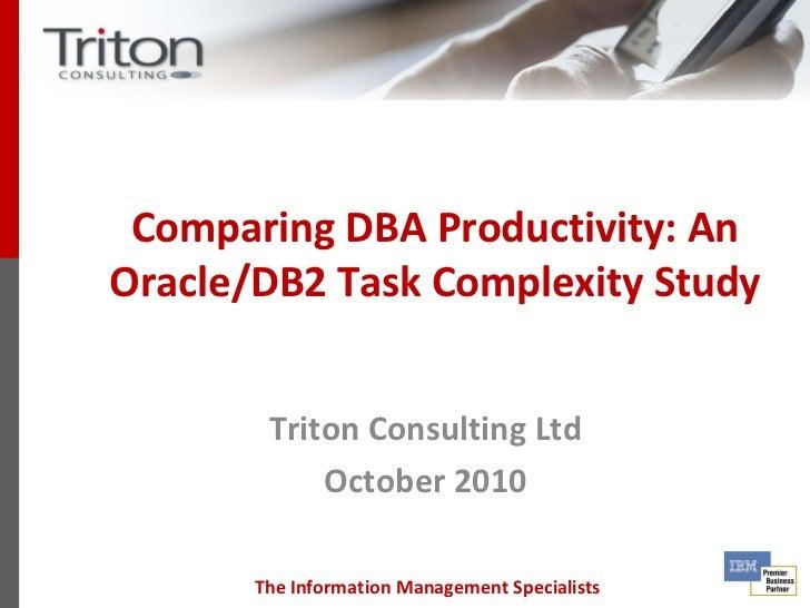 Comparing DBA Productivity - Triton Consulting