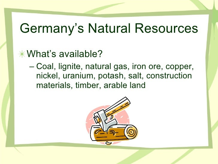 Natural Resources Available In Germany