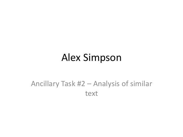 Alex Simpson Ancillary Task #2 – Analysis of similar text
