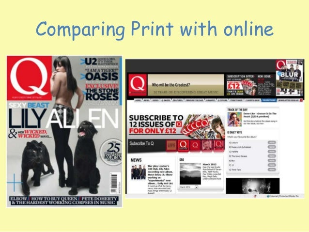 Comparing Print with online