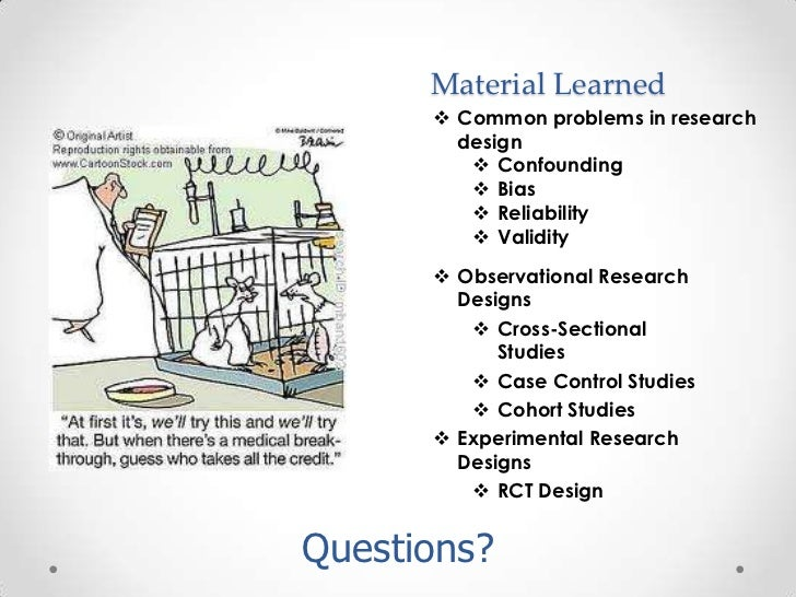 Comparing Research Designs