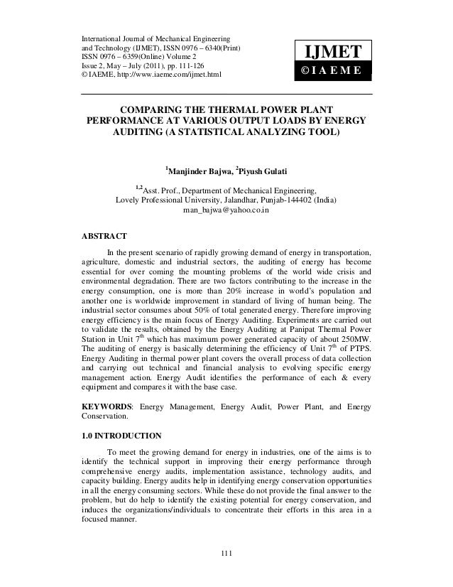 International Journal Mechanical Engineering and InternationalJournal ofof Mechanical Engineering Technology (IJMET), ISSN...