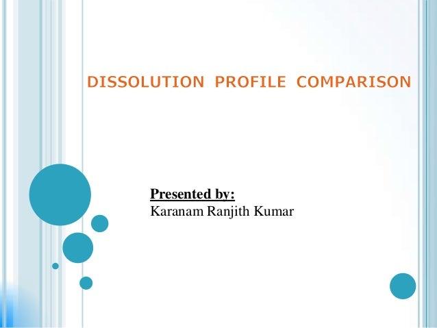 Comparision of dissolution profile