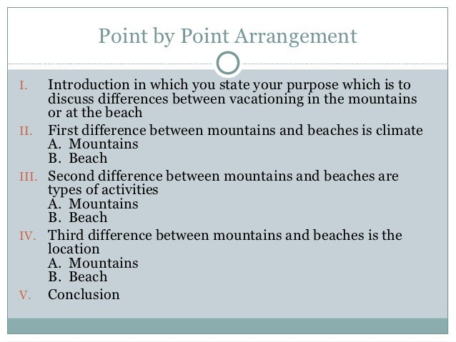 Point By Point Essay Format Sample Of A Compare And Contrast
