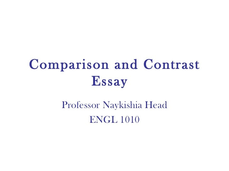 media compare and contrast essay Compare and contrast directions a reminder that to compare something is the process of identifying the identify at least four differences in the essay 2.