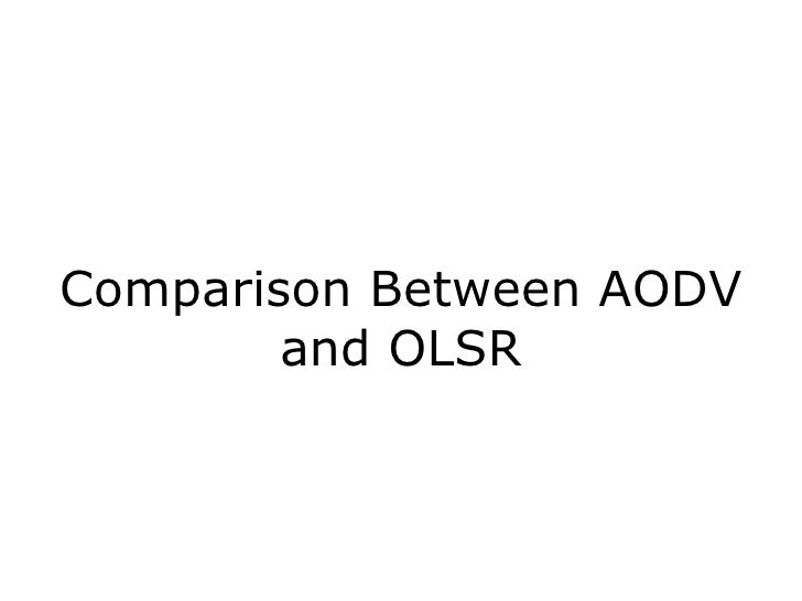 Comparison Between AODV and OLSR