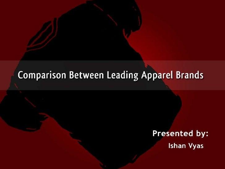 Comparison Between Apparels ( Gucci, Armani & Raymonds )