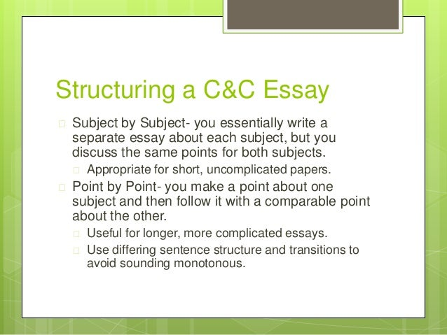 how to write a compare and contrast essay example