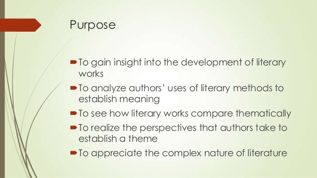 Compare contrast essay literary analysis