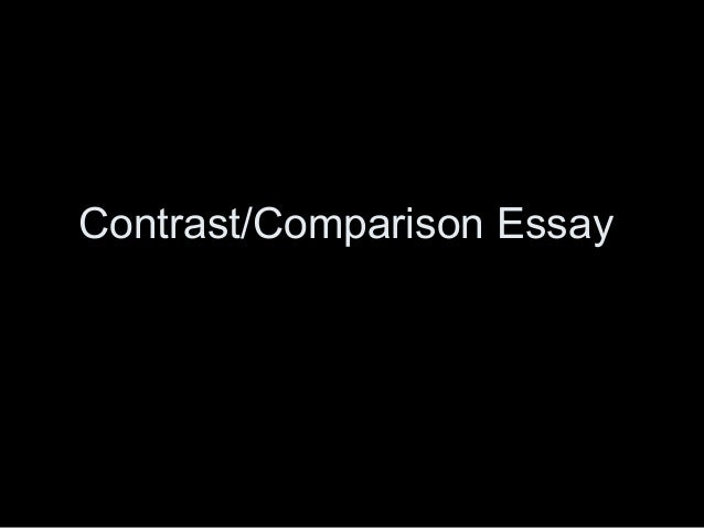 Pay for Compare and Contrast Essays