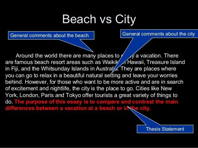 Comparison Essay Between Two Cities