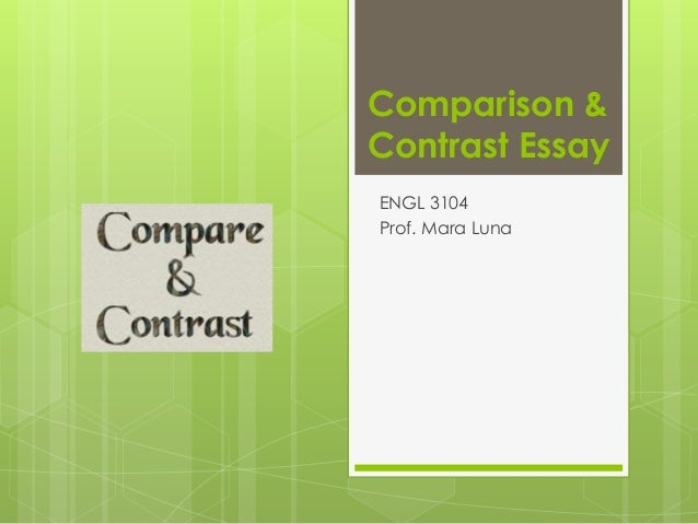 and contrast english essay Linking words: contrasting ideas linking words to help you contrast things in english image source: (in written english.