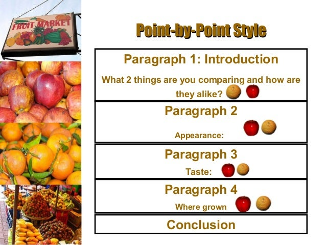 Write compare contrast essay point point