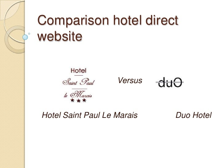 Comparison Hotel Direct Website