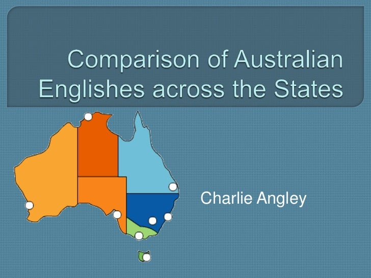 Comparison of australian englishes across the states