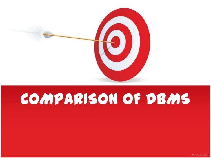 Comparison of dbms
