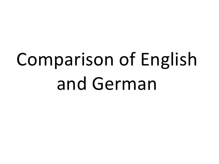 Comparison of English and German