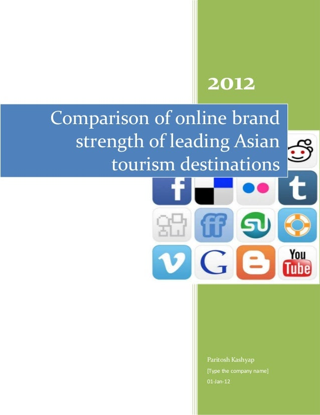 Comparison of online brand strength of leading asian tourism destinations