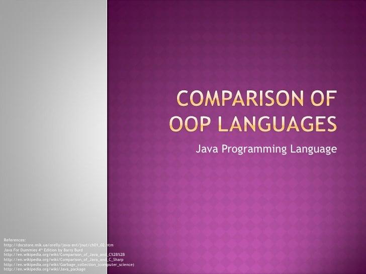 OOP Language Powerpoint