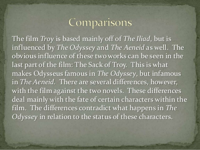 a comparative analysis of the aeneid odyssey and iliad The first 6 books, roughly, of the aeneid relate aeneas's-- 'the man's'-- wanderings after the fall of troy, just as homer's odyssey  in the iliad of.