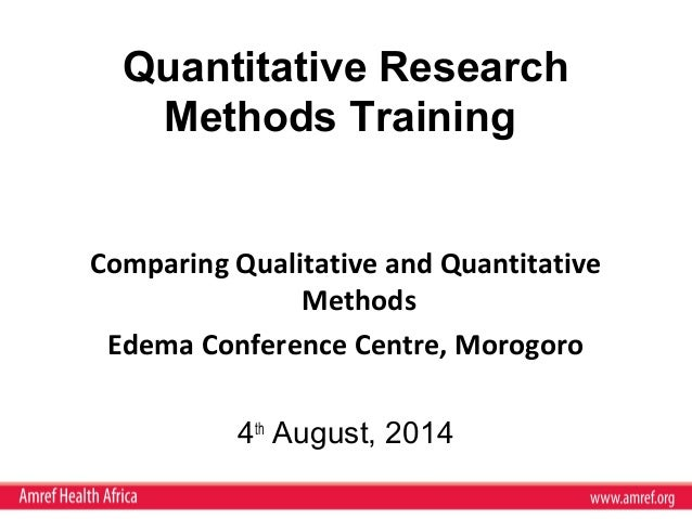 comparing qualitative and quantitative research