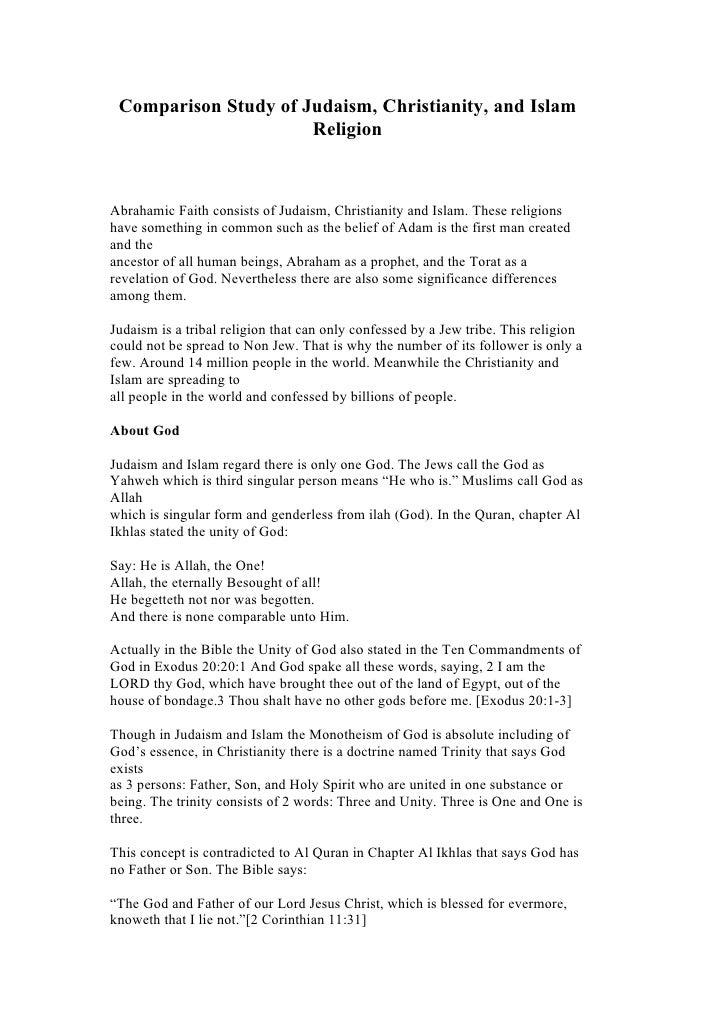 muslim christianity and judaism similarities