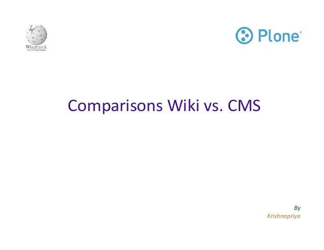 Comparisons Wiki vs CMS