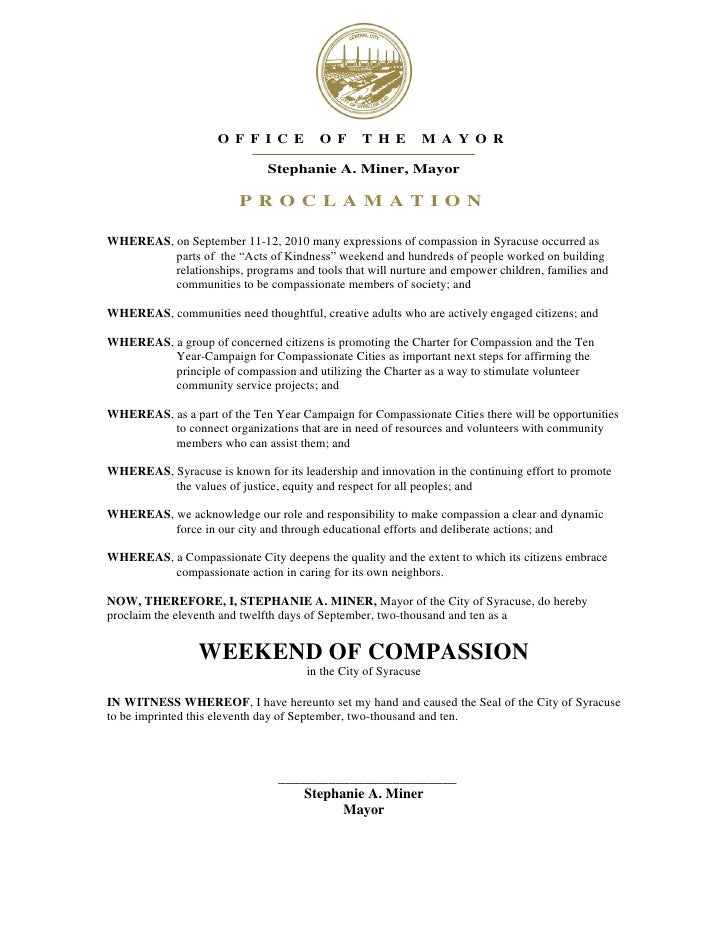Proclamation for A-OK Weekend