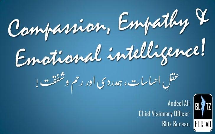 Compassion, empathy & emotional intelligence
