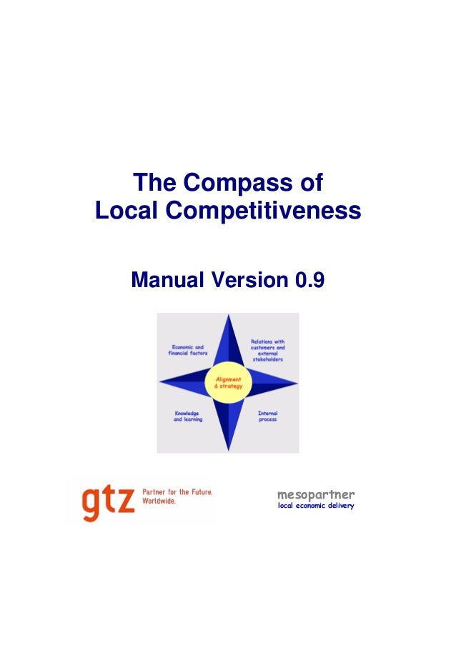 The Compass of Local Competitiveness Manual Version 0.9 mesopartner local economic delivery