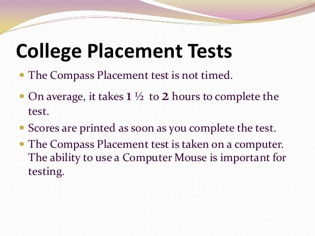 Essay for placement test in colleges
