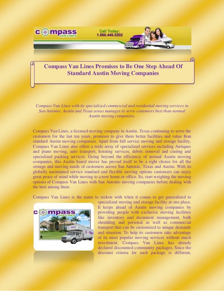 215903810Compass Van Lines Promises to Be One Step Ahead Of Standard Austin Moving Companies<br />Compass Van Lines with i...