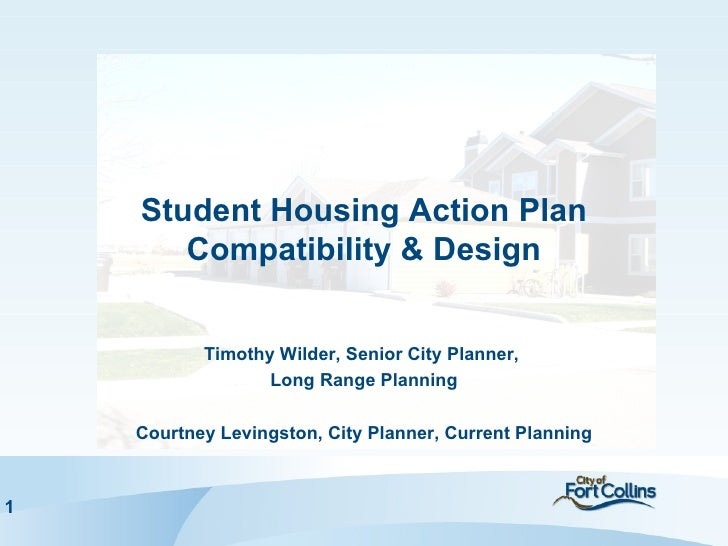 Student Housing Action PlanCompatibility & Design