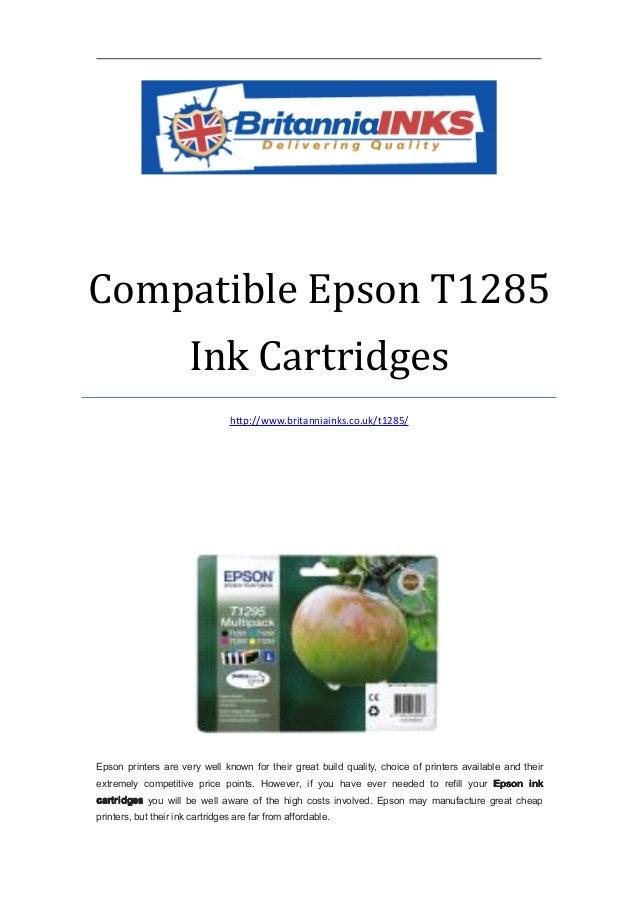Compatible Epson T1285                       Ink Cartridges                                 http://www.britanniainks.co.uk...