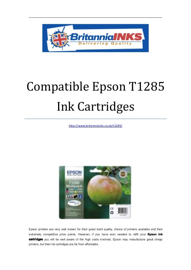 Compatible epson t1285 ink cartridges