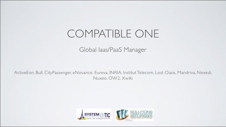 CompatibleOne OW2 Conference Nov10