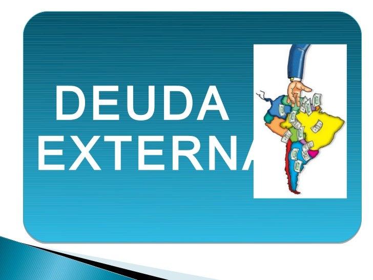 Comp deuda externa ecu