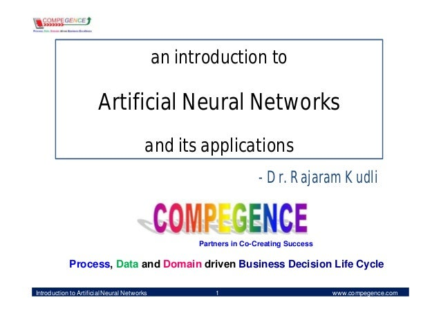 an introduction to                       Artificial Neural Networks                                         and its applic...