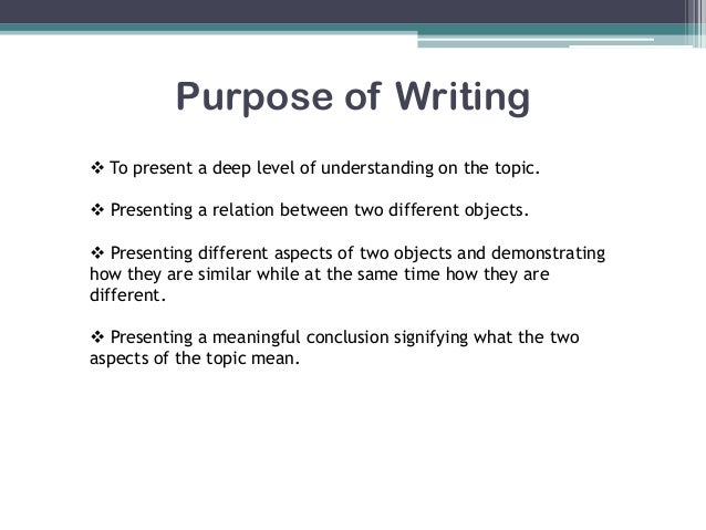 Compare and contrast essay suggestions?