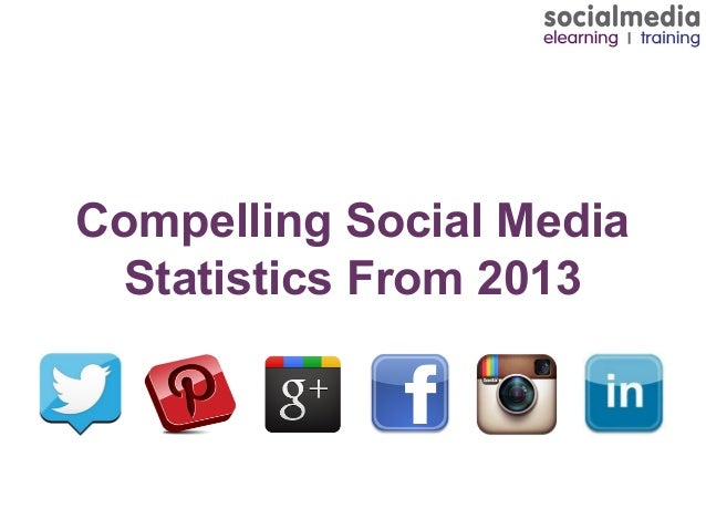 Compelling Social Media Statistics From 2013