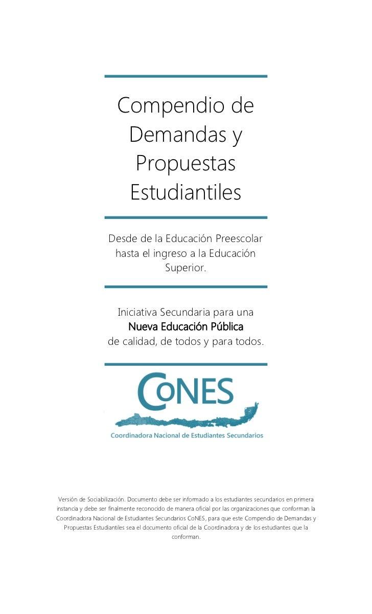 Compendio de demandas y propuestas estudiantiles CONES