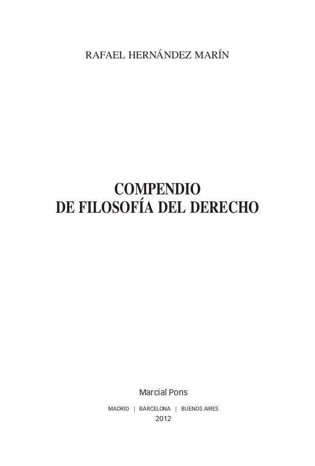 rafael hernández marín                              compendio                       de filosofía del derecho              ...