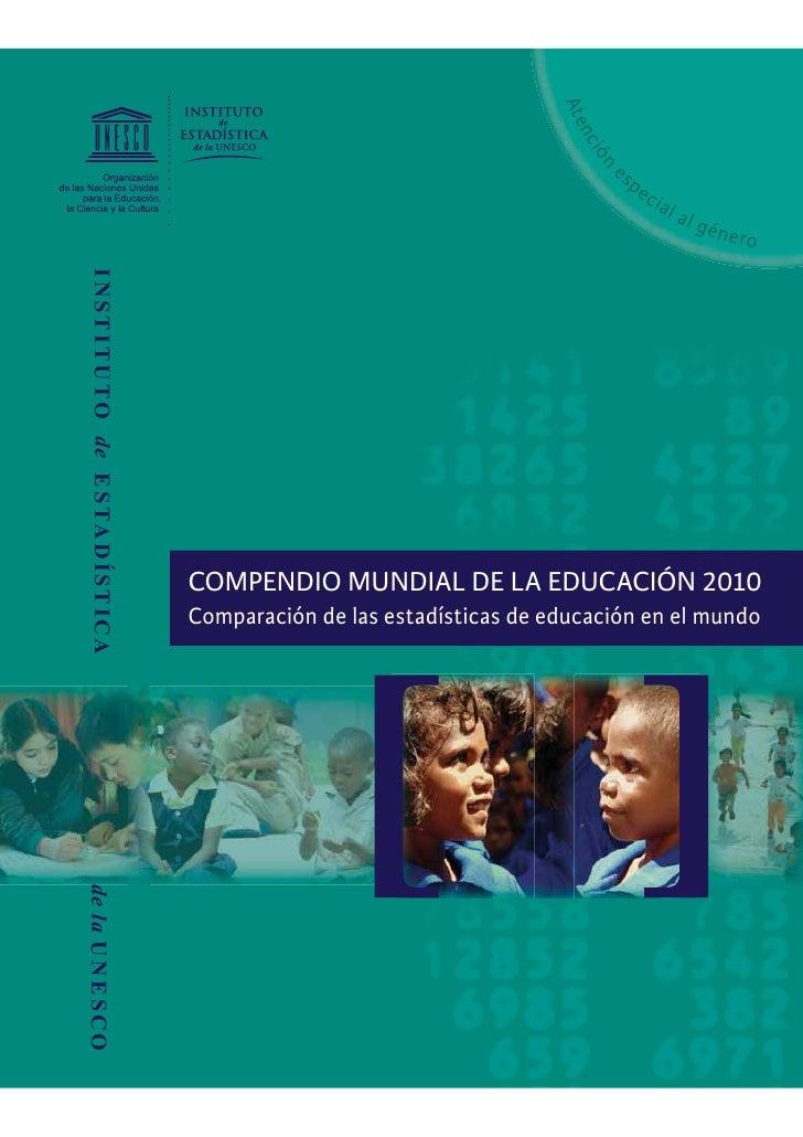Compendio mundial de la educación   2010