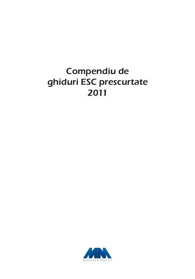 Compendiu de ghiduri ESC prescurtate 2011