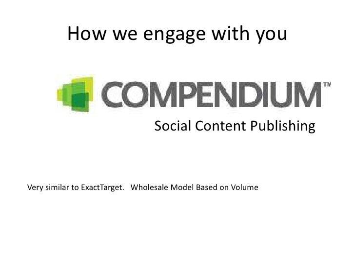 Social Content Publishing <br />