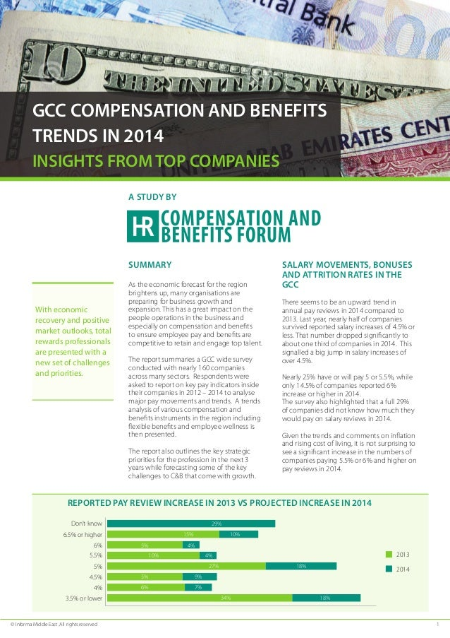 © Informa Middle East. All rights reserved	 1 GCC COMPENSATION AND BENEFITS TRENDS IN 2014 INSIGHTS FROM TOP COMPANIES Sum...