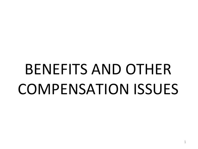 BENEFITS AND OTHER COMPENSATION ISSUES 1