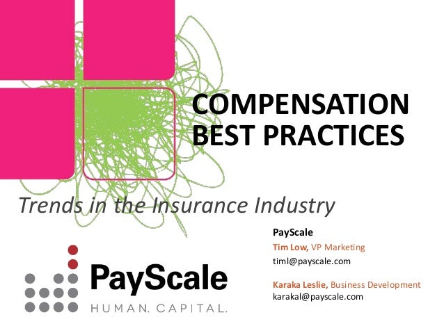 Compensation trends in the insurance industry (1)
