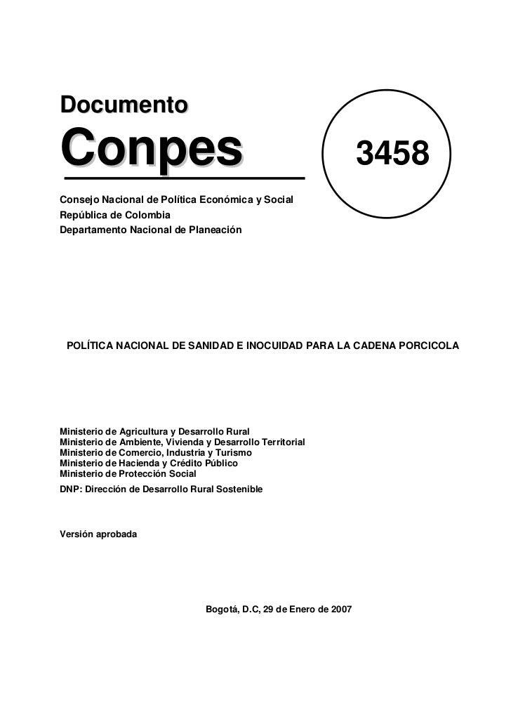 DocumentoConpes                                                              3458Consejo Nacional de Política Económica y ...