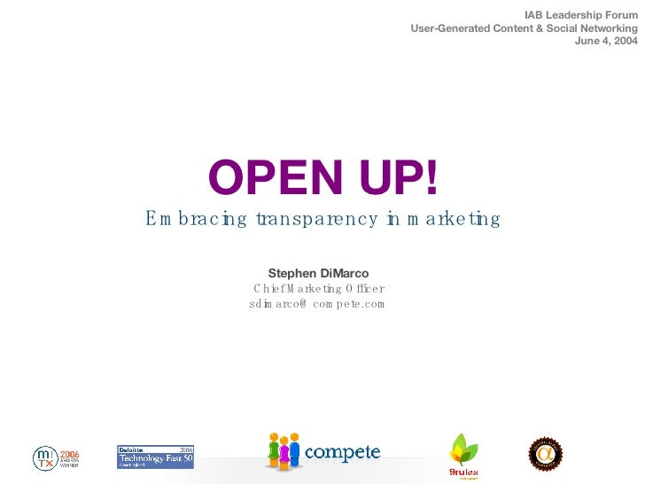 Compete Iab Presentation On Transparency (04 June2007)